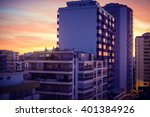 Modern Buildings Over Dawn Sky...