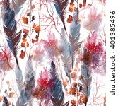 boho style magic  twigs and... | Shutterstock . vector #401385496