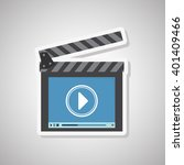 movie icon design  vector... | Shutterstock .eps vector #401409466