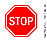 Red Stop Sign Isolated On White ...