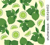 seamless pattern with  lime.... | Shutterstock .eps vector #401414452