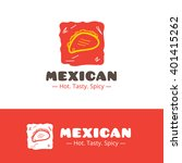 vector colorful mexican food... | Shutterstock .eps vector #401415262