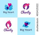 vector set of clean charity... | Shutterstock .eps vector #401415322