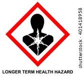 ghs hazard pictogram   longer... | Shutterstock .eps vector #401418958