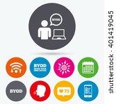 wifi  like counter and calendar ... | Shutterstock .eps vector #401419045