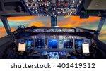 Airplane Cockpit Flight Deck I...