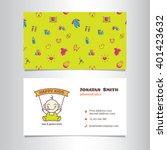 vector business card template...   Shutterstock .eps vector #401423632