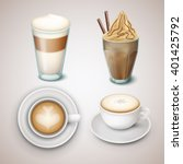 vector coffee drinks collection. | Shutterstock .eps vector #401425792
