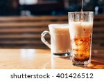 refreshing drink with bubbles... | Shutterstock . vector #401426512