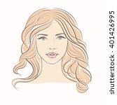 beautiful woman face. portrait... | Shutterstock .eps vector #401426995