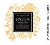 Vector Vintage Italian Pasta...