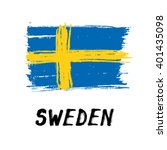 flag of sweden   grunge | Shutterstock .eps vector #401435098