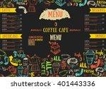 vecor bistro restaurant menu...   Shutterstock .eps vector #401443336