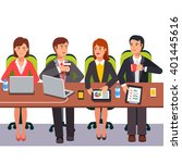 small collaboration team... | Shutterstock .eps vector #401445616