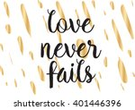 love never fails romantic... | Shutterstock .eps vector #401446396