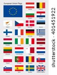 collection of all european... | Shutterstock .eps vector #401451922