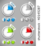 set of timers. different colors.... | Shutterstock .eps vector #40145287