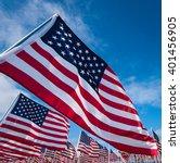 a field of hundreds of american ...   Shutterstock . vector #401456905