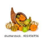 A Fall Or Autumn Cornucopia On...