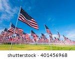 A Field Of Hundreds Of America...