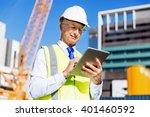 engineer builder at... | Shutterstock . vector #401460592