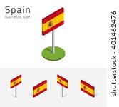 spanish flag  kingdom of spain  ... | Shutterstock .eps vector #401462476