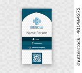 medical card corporate identity   Shutterstock .eps vector #401464372