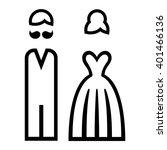 wedding. bride and groom icon.... | Shutterstock .eps vector #401466136