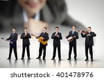 he can play all instruments | Shutterstock . vector #401478976