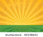 vintage sunny meadow | Shutterstock .eps vector #40148641