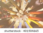 multi ethnic diverse group of... | Shutterstock . vector #401504665