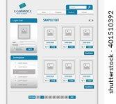 website design template  design  | Shutterstock .eps vector #401510392