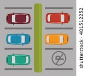 parking zone design  | Shutterstock .eps vector #401512252