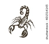 vector sketch of a scorpion in... | Shutterstock .eps vector #401514145