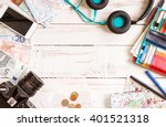 camera  touristic maps ... | Shutterstock . vector #401521318
