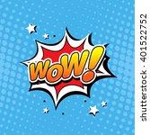 wow  comic speech bubble | Shutterstock .eps vector #401522752