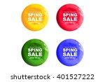 a set of watercolour... | Shutterstock .eps vector #401527222