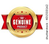 luxury gold genuine product... | Shutterstock .eps vector #401533162