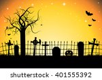 halloween card illustration ... | Shutterstock . vector #401555392