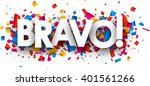 bravo banner with color... | Shutterstock .eps vector #401561266