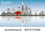 bangalore skyline with gray... | Shutterstock .eps vector #401571406