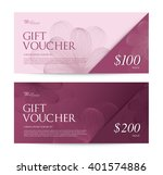 gift voucher  flower spa yoga... | Shutterstock .eps vector #401574886