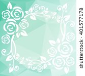 abstract floral border on a...   Shutterstock .eps vector #401577178