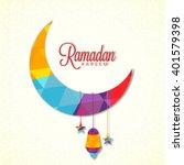 creative colourful crescent... | Shutterstock .eps vector #401579398