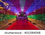 multicolored light tunnel in... | Shutterstock . vector #401584048