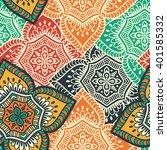 seamless pattern. vintage... | Shutterstock .eps vector #401585332