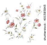 floral hand made design | Shutterstock . vector #401585845