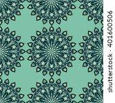 round mandala seamless pattern. ... | Shutterstock .eps vector #401600506