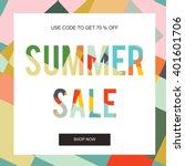 summer sale banner  sale poster ... | Shutterstock .eps vector #401601706