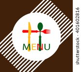 menu card design template ... | Shutterstock .eps vector #401602816